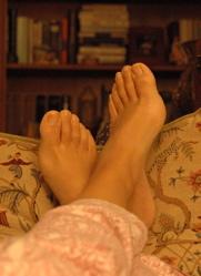 Feet at 4 a.m.