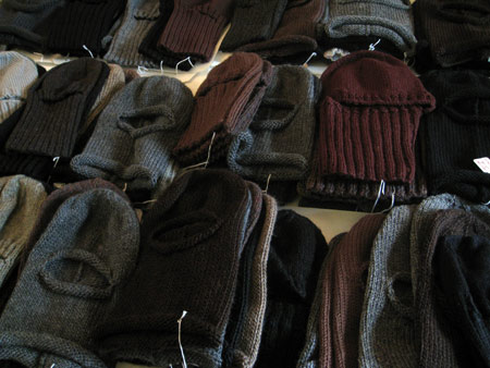 Helmets, stacked, by Stitch for Senate