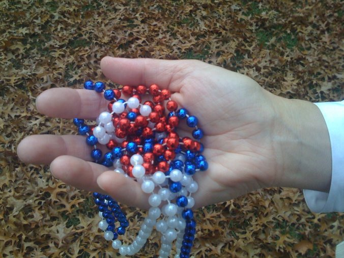 Patriotic party beads