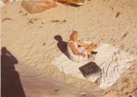 Ellen Lindberg, some beach, somewhere, 1971