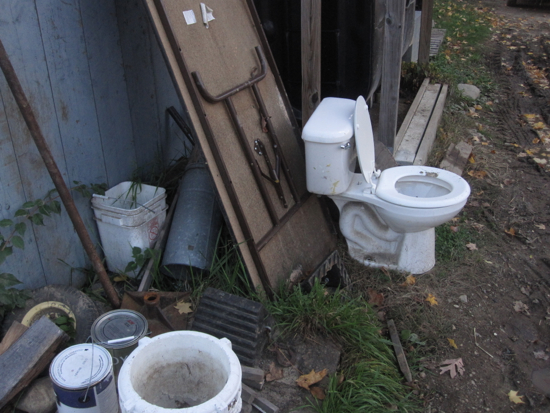 Toilet outdoors
