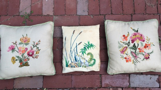 three pillows (before)