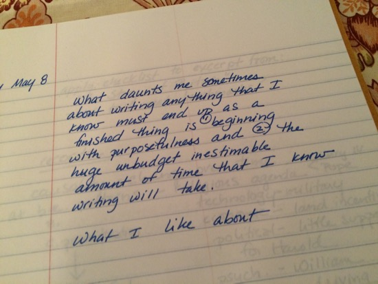 from a 2004 workshop at Bard Institute of Writing & Thinking